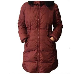 Coach maroon down winter jacket Medium